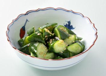きゅうりの塩とごま油のサラダ