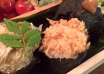 和風だし塩で 生姜三昧弁当のしょうがまん丸おにぎり
