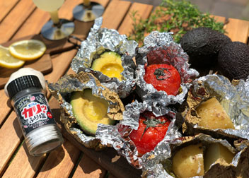 野菜と塩のオリーブオイル焼き