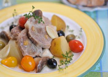 塩レモン豚と野菜のブレゼ